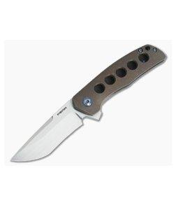Enrique Pena Custom Dingo Clip Point CPM-154 5-Hole Titanium Frame Lock Flipper
