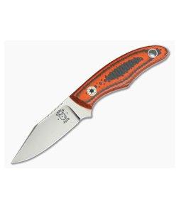 Tom Krein Custom Cayenne Orange Carbon Fiber CTS-XHP EDC Fixed Blade