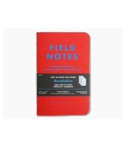 Field Notes Resolution Checklist & Date Books Limited Notebook 3 Pack