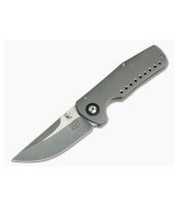 Jared Price Custom Egret Two-Tone CPM154 Titanium Frame Lock Folder 3928