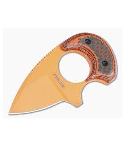 Alan Folts Custom Baby Bear O.J. Coated CPM-154 Orange Carbon Fiber/G10 Hybrid Fixed Blade