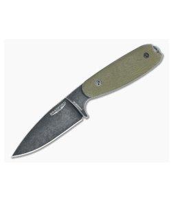 Bradford Guardian3.5 Full Height Flat Grind Nimbus Vanadis 4E 3D OD Green Micarta Fixed Blade