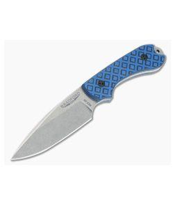 Bradford Guardian3 False Edge GPK Exclusive Stonewashed Rex 45 Blue/Black G10 Fixed Blade
