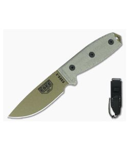 ESEE 3 Plain Edge with MOLLE Back Dark Earth Blade