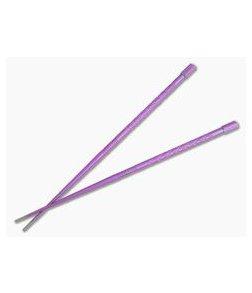 Steve Kelly TiSushi Sticks Ultraviolet Anodized w/ Milling Titanium Chopsticks