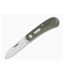Pepe Jalomo Custom Zulu Green Canvas Micarta CPM154 Spear Point Slip Joint