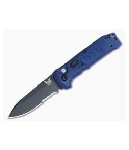 Benchmade 4400SBK-1 Casbah Auto Blue Handle Black Serrated Edge