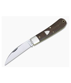 Tidioute #47 Viper Brown Burlap Micarta Slip Joint Knife 470120