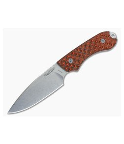 Bradford Knives Guardian4 Tiger Stripe False Edge Stonewash M390