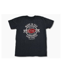 Case Charcoal Hand Crafted USA T-Shirt XLarge