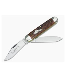 Tidioute Cutlery #54 Big Jack Jigged Cherry Wood