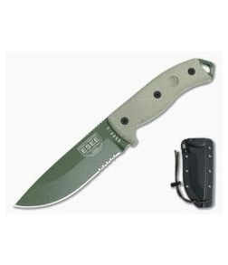 ESEE 5S Serrated OD Green with Black Kydex Sheath