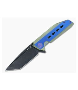 WE Knife 602 Green and Blue Titanium S35VN