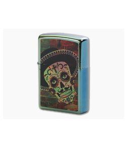 Zippo Lighter Day of the Dead Sombrero Design 80861