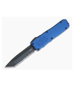 Guardian Tactical Recon-035 Blue Black Tactical Elmax Serrated Tanto D/A OTF Automatic 94122