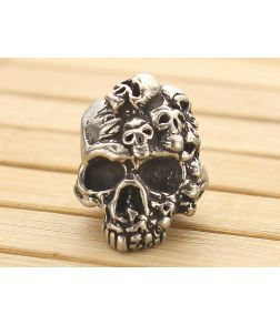 Schmuckatelli Mind Skull Bead Pewter
