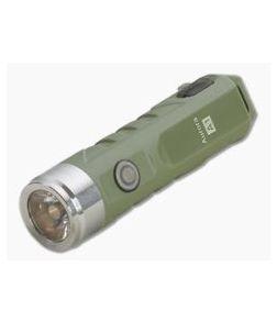 Rovyvon Aurora A1x Army Green Polycarbonate 650 Lumen Cool White LED Keychain Flashlight