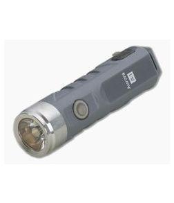 Rovyvon Aurora A1x Grey Polycarbonate 450 Lumen Neutral White LED Keychain Flashlight