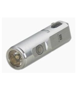 Rovyvon Aurora A2x Satin Silver Stainless Steel 650 Lumen Cool White LED Key Chain Flashlight