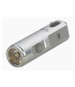 Rovyvon Aurora A2x Satin Silver Stainless Steel 450 Lumen Neutral White LED Key Chain Flashlight