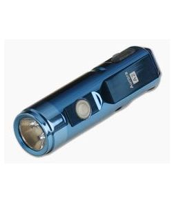 Rovyvon Aurora A2x Blue PVD Stainless Steel 650 Lumen Cool White LED Key Chain Flashlight