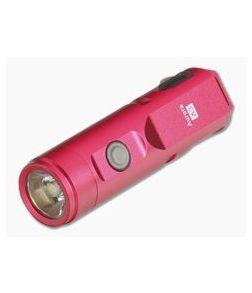 Rovyvon Aurora A3x Red Aluminum 650 Lumen Cool White LED Key Chain Flashlight