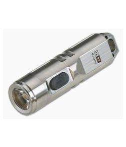 Rovyvon Aurora A4 Titanium Keychain Neutral White LED Flashlight Silver 350 Lumens