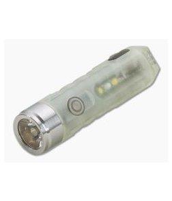 Rovyvon Aurora A5x Cool White + UV 650 Lumen GITD LED Keychain Flashlight