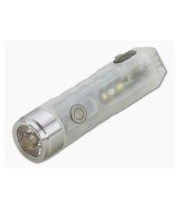 Rovyvon Aurora A7x Cool White + UV 650 Lumen Blue GITD LED Keychain Flashlight