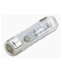 Rovyvon Aurora A8x Clear 450 Lumen Neutral White UV/Red Multi Function LED Key Chain Flashlight