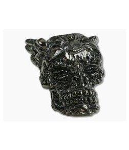 Schmuckatelli Aquilo Skull Bead Hematite Plated Pewter
