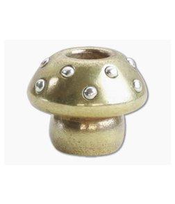 Audacious Concept Amanita Mushroom Bead Medium Brass/Silver Lanyard Bead AMN-BRS-SLV