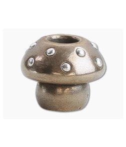 Audacious Concept Amanita Mushroom Bead Medium Bronze/Silver Lanyard Bead AMN-BRZ-SLV