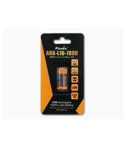 Fenix Rechargeable 16340 Li-ion Battery 700 mAh USB Rechargeable