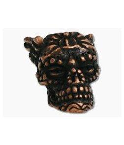 Schmuckatelli Aquilo Sugar Skull Bead Roman Copper Oxide Plated Pewter