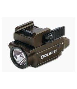 Olight Baldr Mini Desert Tan 600 Lumen Compact Handgun Weapon Light with Green Laser