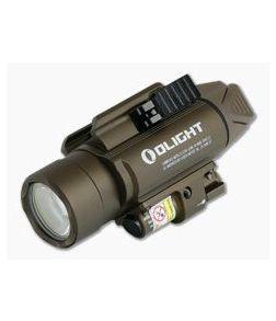 Olight Baldr Pro Desert Tan 1350 Lumen LED Handgun Weapon Light with Green Laser