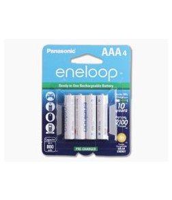 Panasonic Eneloop AAA 800mAh 1.2V NiMH Rechargeable Batteries - 4 Pack
