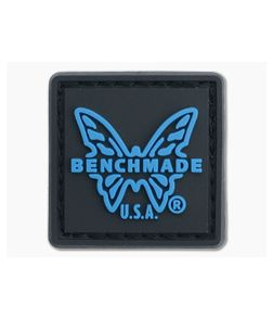 """Benchmade Ranger Eye Patch 1"""" x 1"""" Charcoal Gray/Blue with Velcro Backing"""
