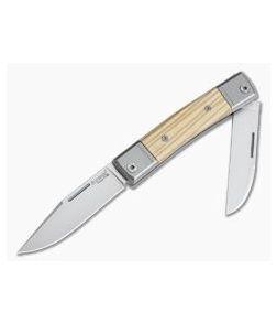 LionSteel BestMan 2-Blade Slip Joint M390 Olive Wood BM13-UL