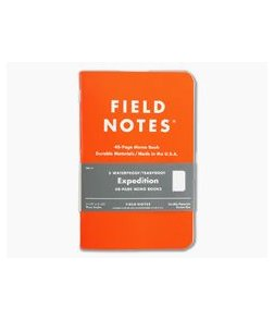 Field Notes Expedition 48-Page Dot-Graph Waterproof Notebook 3 Pack