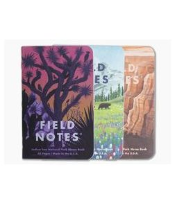 Field Notes National Parks | Grand Canyon, Joshua Tree, Mount Rainier Limited Edition Graph Paper Memo Notebook 3 Pack