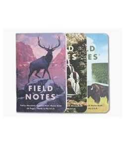 Field Notes National Parks | Rocky Mountain, Great Smoky Mountains, Yellowstone Limited Edition Graph Paper Memo Notebook 3 Pack