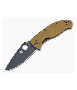 Spyderco Tenacious Brown G10 Black Plain C122GPBBN