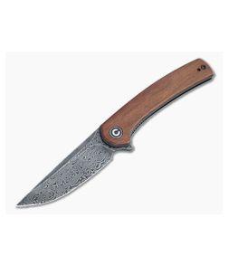 CIVIVI Mini Asticus Black Damascus Cuibourtia Wood Liner Lock Flipper C19026B-DS2