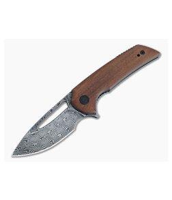 CIVIVI Odium Ferrum Forge Black Damascus Cuibourtia Wood Liner Lock Flipper C2010DS-1