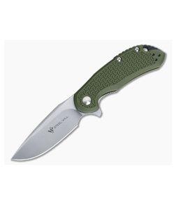 Steel Will Cutjack Mini OD Green FRN Flipper Satin D2 C22M-1OD