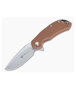Steel Will Cutjack Mini Tan FRN Flipper Satin D2 C22M-1TN