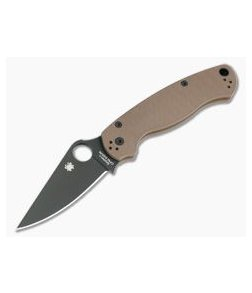 Spyderco ParaMilitary 2 Earth Brown G10 Black DLC S35VN Limited C81GPBNBK2