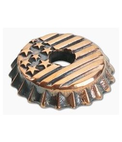 Lion Armory Beer Cap US Flag Bead Copper